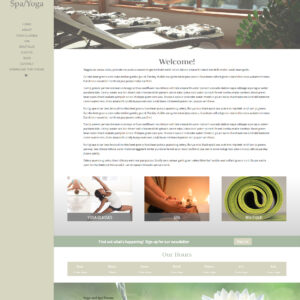 Spa and Yoga Wordpress Theme