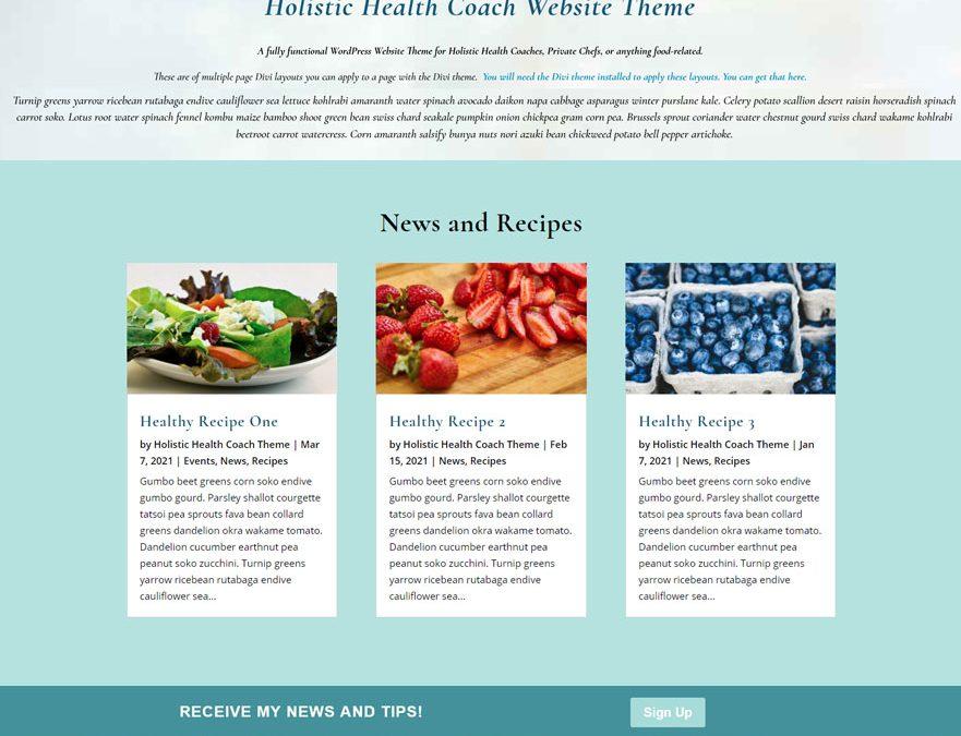 Holistic Health Coach Theme Re-designed