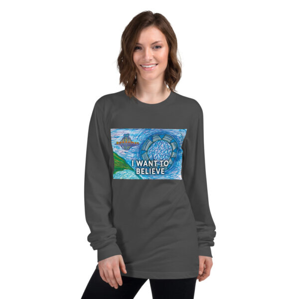 I WANT TO BELIEVE SHIRT grey
