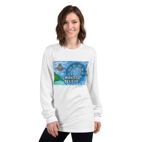 I WANT TO BELIEVE SHIRT white