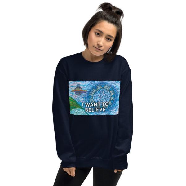 I WANT TO BELIEVE - Unisex Sweatshirt