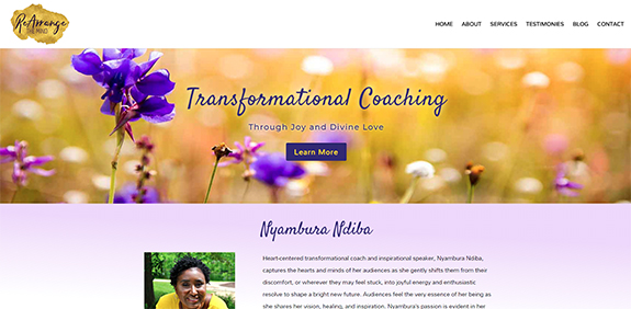 web design for coaches, spiritual coaching websites