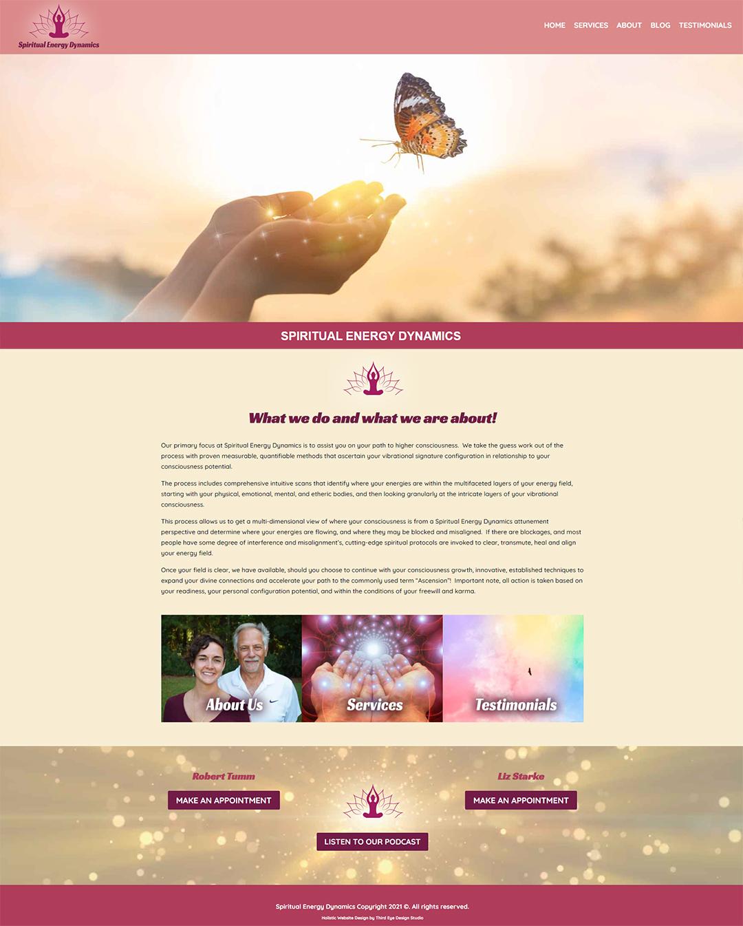 Website Design for Energy Healers